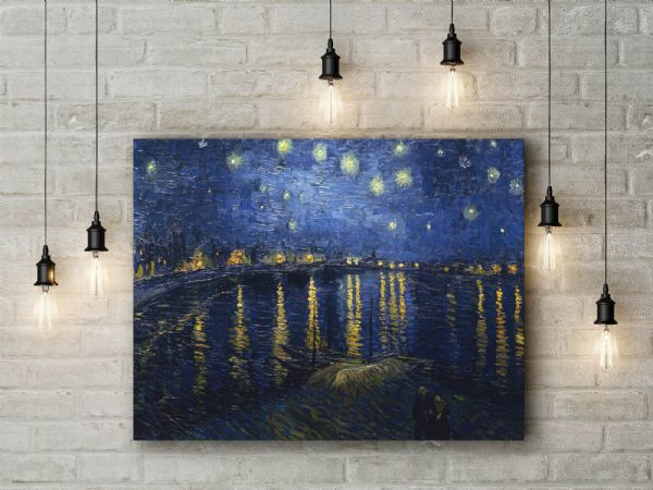 Vincent Van Gogh: Starry Night over the Rhone. Fine Art Canvas.